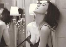 姜欣雨黑丝透视装,半裸